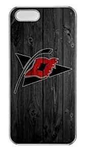 iPhone 5S Case, iPhone 5 Case - Crystal Clear Transparent Hard Case for iPhone 5s 5 5G with Design Wood Carolina Hurricanes Logo
