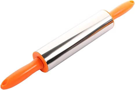 Stainless Steel Rolling Pin Dough Pastry Roller Cake Noodle Baking Tool Kitchen