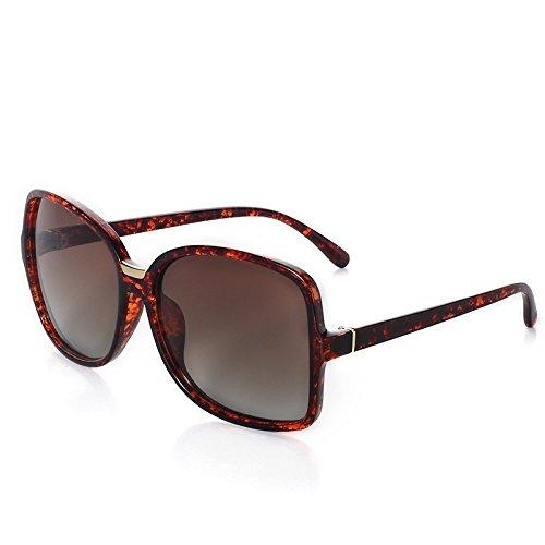 gran gafas sol de Tortoiseshell de sol guía ovalada Retro de mujer TL ronda Sunglasses Tortoiseshell polarizadas gafas w4nxqRfBpY
