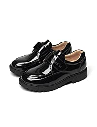 Boys Loafers Kids Shoes Student Performance Flats Slip On Style Single Fastener Band
