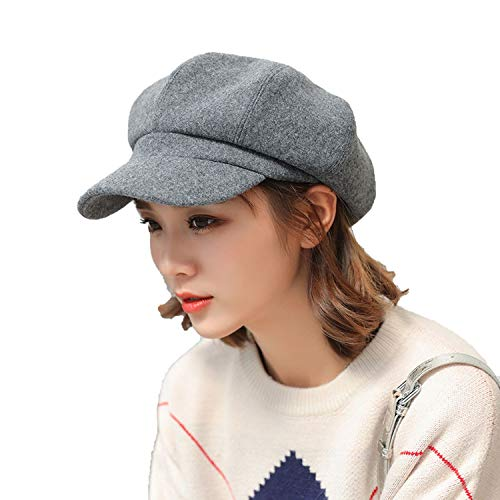 Corduroy Octagonal Hat Autumn Winter Solid Vintage Military Hats Painter French Beret Cap