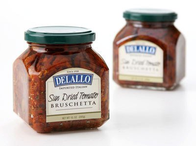 DeLallo - Sun Dried Tomato Bruschetta, (3)- 10 oz. (Tomato Bruschetta Topping)