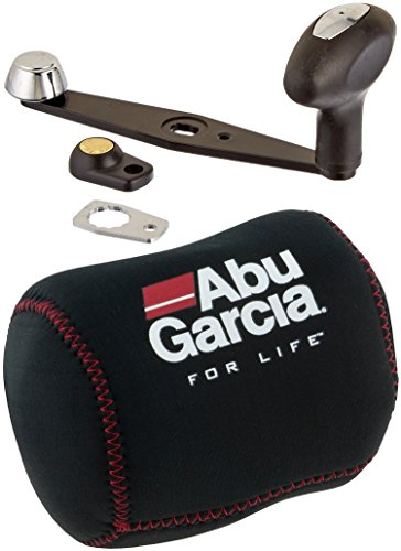 Abu Garcia Power Handle Accessory with Abu Garcia Revo Shop Neoprene Cover for 6000 Size Reel (Black with Cover ()