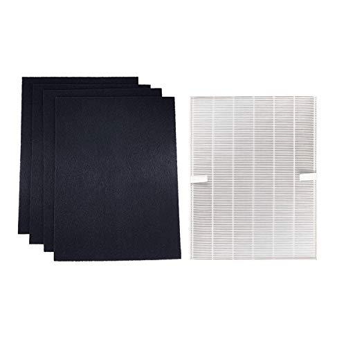 Treetree 1 True HEPA Filter with 4 Activated Carbon Replacement Pre Filters Compatible with 115115 Size 21 Filter A and WX Air Purifier P300, 5300, 5500, 6300, C535 290, 300, DX95, AP-300PH