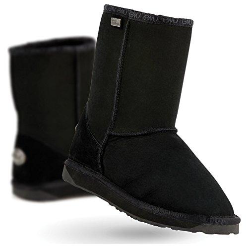 EMU Australia Women's Stinger Lo Premium Water Resistant Boot,Black,9 M US (Emus Boots)