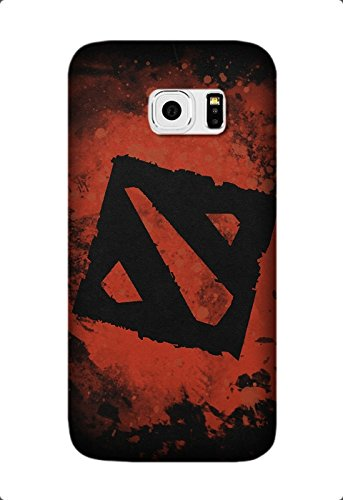 dota 2 black logo art Game, Personalized Protective Back Cover Case For Samsung Galaxy S6 Edge Plus/S6 Edge+ TPU Design by [David Reed]