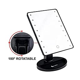 Palace R 16 LED Touch Screen 180 Degree Free Rotation Tabletop LED Lighted Makeup Mirror Cosmetic Vanity Mirror