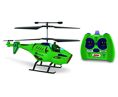 - Marvel Avengers Hulk IR Hero Pilot RC Helicopter, Green, 19.5 x 3 x 8