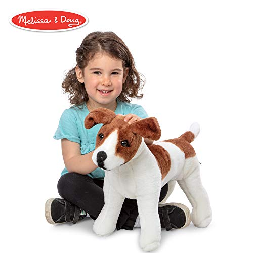 Melissa & Doug Giant Jack Russell Terrier - Lifelike Stuffed Animal Dog (over 12 inches tall) -