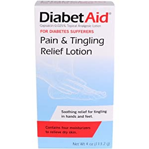 DiabetAid Pain and Tingling Relief Lotion, 4-Ounces (Pack of 4)