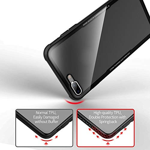 Achoro Tempered Glass Case Compatible with iPhone 7 Plus & 8 Plus. Anti-Scratch, Anti-Bursting, Protective Luxury Cover Compatible with iPhone Plus 7 & 8 Plus - Transparent Glass Crystal Clear Case