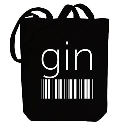 Idakoos Drinks Bag Canvas Tote Gin Idakoos Gin barcode barcode 1XdqgUg