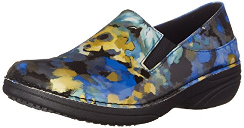 Multi Floral Ferrara Work Step Spring Shoe Women's Blue 016EPY