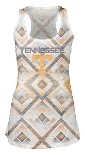 Blue 84 NCAA Tennessee Volunteers Women's Sublimated Burnout Tank Top, Large, White