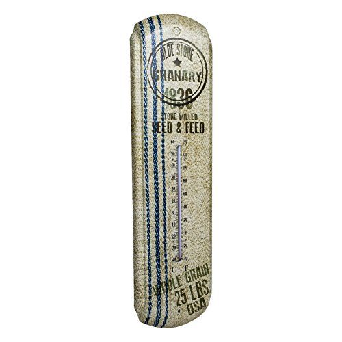 Ohio Wholesale Grain Sack Advertising Metal Wall Thermometer Vintage Look 17 Inches - Metal Wall Thermometer
