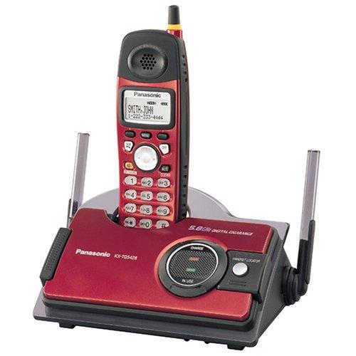 Panasonic KX-TG5428R 5.8 GHz FHSS GigaRange  Shock and Splash Resistant Digital Cordless Telephone