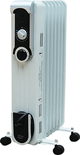 Comfort Glow EOF260 Seven Fin Oil Filled Radiant Heater, White