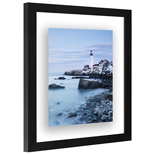 Americanflat 11x14 Inch Floating Frame - Modern Picture Frame Designed to Display a Floating Photograph, Black by Americanflat