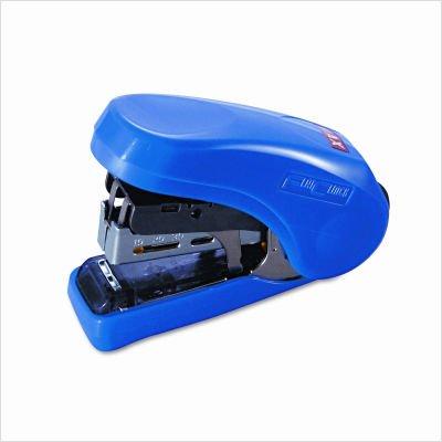 Max Flat Clinch Light Effort Stapler, 20 Sheet Capacity, Blue (HD-10FLBE)