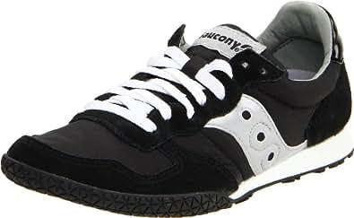 Saucony Originals Women's Bullet Classic Retro Sneaker, Black/Silver, 5 M US