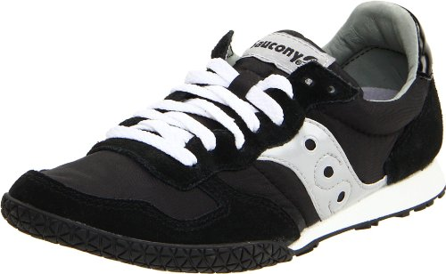 Women Shoes Saucony - Saucony Originals Women's Bullet Classic Retro Sneaker, Black/Silver, 8 M US