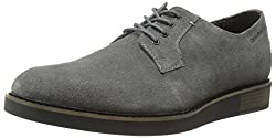 CK Jeans Men's Banks Suede Oxford, Dark Grey, 9 M US