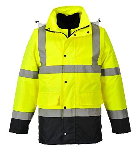 PORTWEST Warnschutz 4-In-1 Kontrast Verkehrsjacke, 1 Stück, L, gelb, S471YNRL