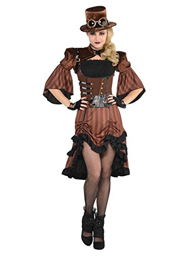 AMSCAN Steamy Dreamy Steampunk Halloween Costume for Women, Medium, with Included Accessories -