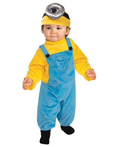 Rubie's Baby Boys' Minion Stewart Romper Costume, Yellow, Toddler (3T-4T) -