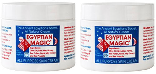 (Egyptian Magic All Purpose Skin Cream (Pack of 2) with Beeswax, Honey, Royal Jelly, and Olive Oil, 2 oz.)