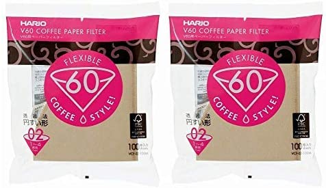 Hario Paper Coffee Filter Misarashi for 02 Dripper: 2-Pack