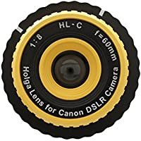 Holga Lens Yellow for Canon Rebel T6 T6s T6i T5 SL1 T5i T4i T3i T3 T2i