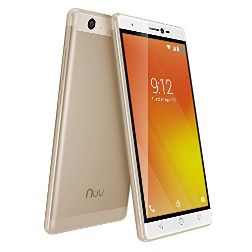 NUU Mobile M3 5.5' HD LTE Android 7.0 Smartphone, Gold