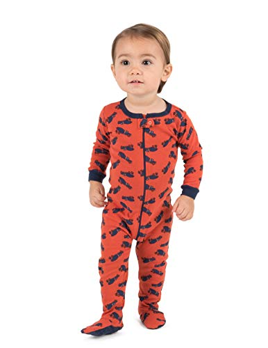 Leveret Kids Pajamas Baby Boys Girls Footed Pajamas Sleeper 100% Cotton (Truck, Size 2 Toddler) ()