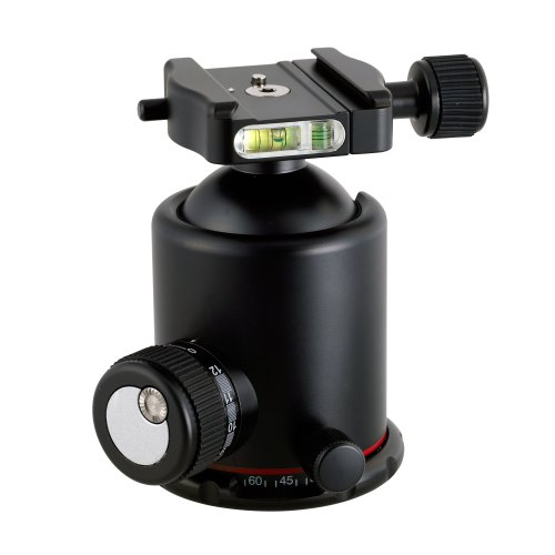 Photo Clam PRO-54NS Photo Clam Pro 54NS PRO Head with Friction Control, 3/8-Inch Socket, Side and Top Bubble Levels (Black) ()