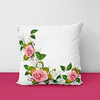 418Y55t84jL. SS320 Rose Flower Square Design Printed Cushion Cover