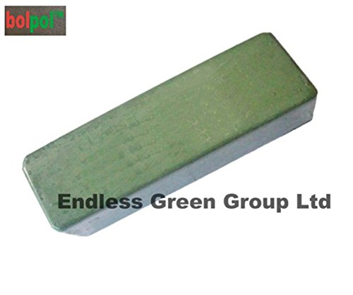 Bolpol - Green solid compound polishing bar - Buffing bar / Polishing abrasive / cutting compound for Stainless Steel - GREEN 110g Endless Green Group Ltd
