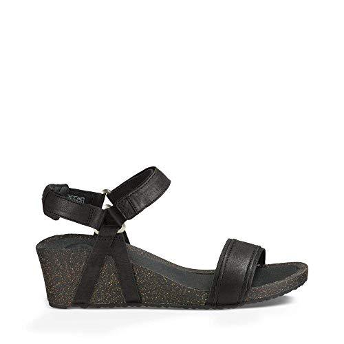 Teva Women's W Ysidro Stitch Wedge Sandal, Black, 7 M US