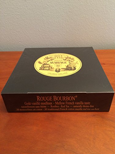 Mariage Frères - ROUGE BOURBON® - Box of 30 traditional french muslin tea (Garden Rouge)