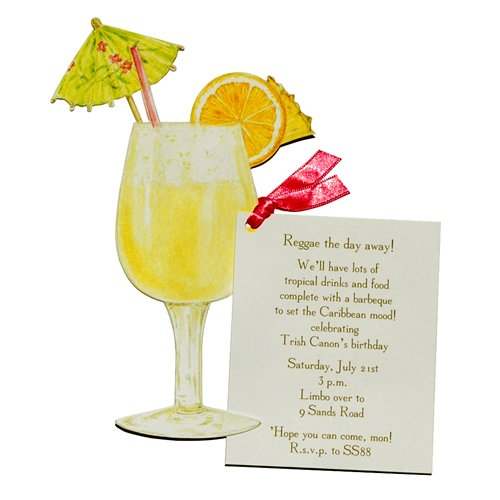 Tropical Drink Die-cut Card, Pack of 10
