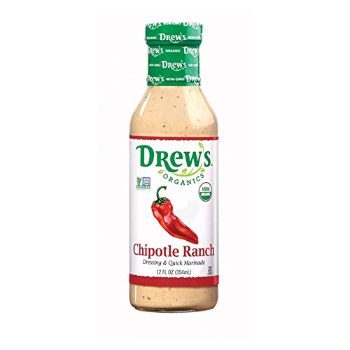 Chipotle Ranch Dressing - Drew's Natural Chipotle Ranch Dressing Glass Jar, 12 Ounce