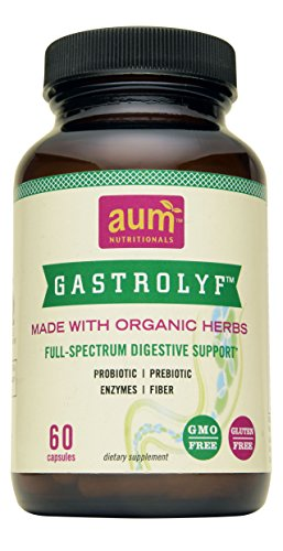 GASTROLYF | Digestive Enzyme Supplement W/Probiotic & Prebiotic Enzymes | Shelf Stable, Gluten Free, Organic Digestion Aid | Relief of Constipation, Bloating, Gas & Abdominal Discomfort |60 Capsules|