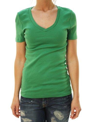 j-crew-womens-short-sleeve-v-neck-basic-t-shirt-green-m