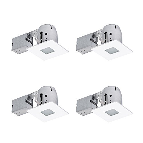 Globe Electric 90951 Recessed Lighting, 4 Pack, 4
