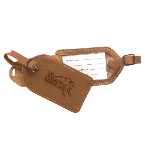 CollegeFanGear Siena Canyon Barranca Tan Luggage Tag 'Official Logo Engraved' by CollegeFanGear