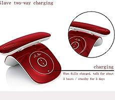Teléfono inalámbrico digital, teléfono fijo 2.4G Bluetooth fijo, hogar y empresa, el teléfono retro se puede combinar con dos teléfonos móviles, teléfono, teléfono móvil, llamada entrante sincrónica: Amazon.es: Hogar