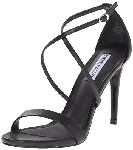 Steve Madden Women's Feliz Dress Sandal, Black, 10