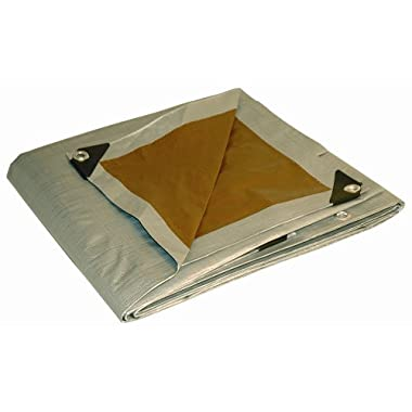 10' x 12' Dry Top Heavy Duty Silver/Brown Reversible Full Size 10-mil Poly Tarp item #210125