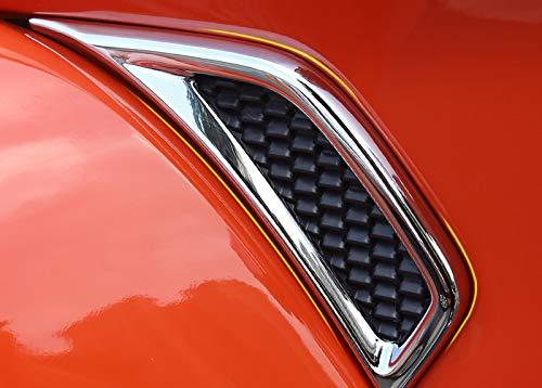 Chromed Air Vent Hood Intake Fender Trim Side Wing Fender Emblem Badge Decoration Cover Trim Car Styling Accessories 2PCS Fit for Jeep Wrangler JL 2018 2019 Not for Wrangler JK 2018 Model