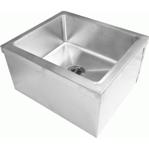 Durasteel Stainless Steel Floor Mount Mop Sink (19''Wx22''Lx12''H) ETL Certified SE1922FM by DURASTEEL